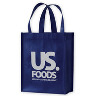 Navy Laminated Tote Bag