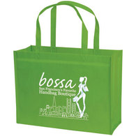 standard green bag with white imprint