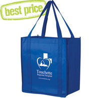 Royal Blue thrifty bag with white imprint
